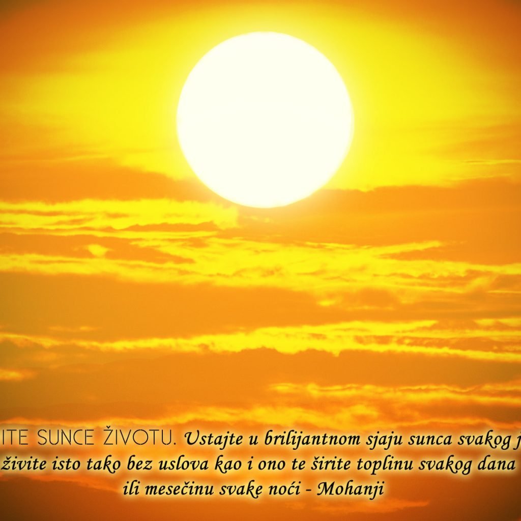 Mohanji Quote In Serbian – Be The Sun To Life