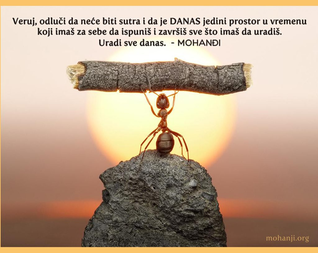 Mohanji Quote In Serbian – Believe, Decide That There Will Be No Tomorrow And Today Is