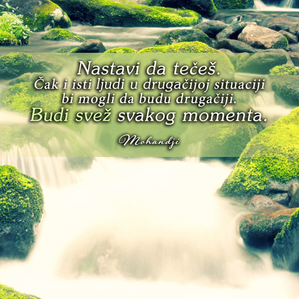 Mohanji Quote In Serbian – Continue To Flow