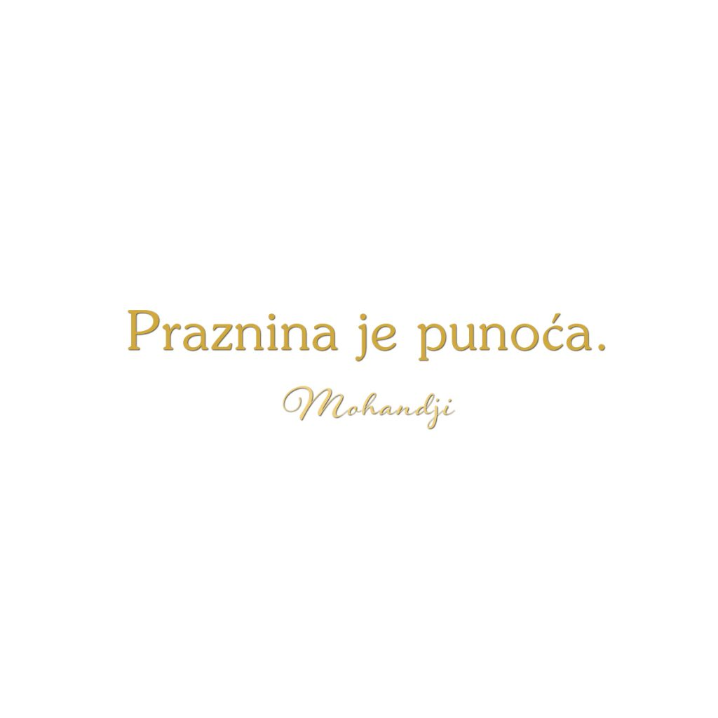 Mohanji Quote In Serbian – Emptiness Is Fullness