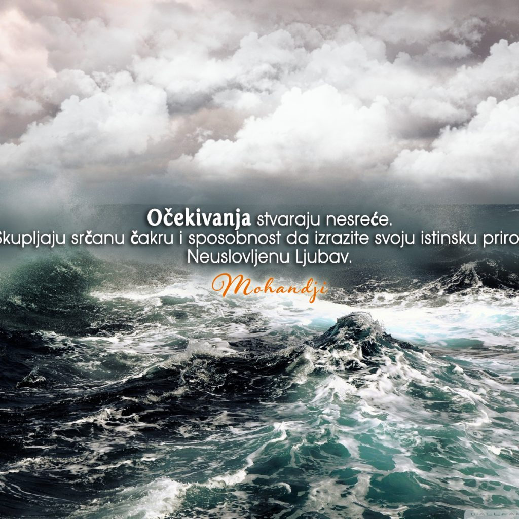 Mohanji Quote In Serbian – Expectations Create Calamities