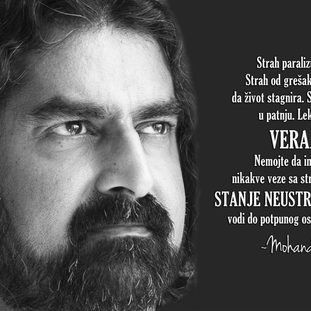 Mohanji Quote In Serbian – Fear Cripples