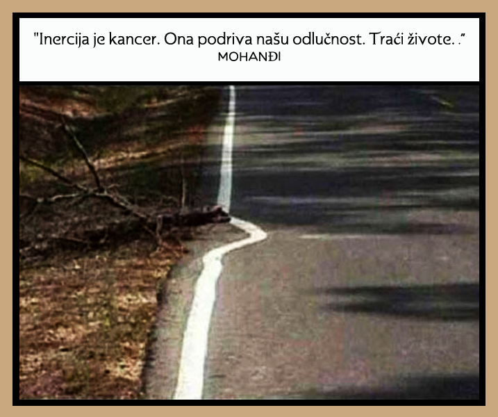 Mohanji Quote In Serbian – Inertia Is The Cancer