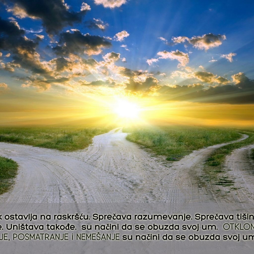 Mohanji Quote In Serbian – Mind Always Leaves Us At The Crossroads