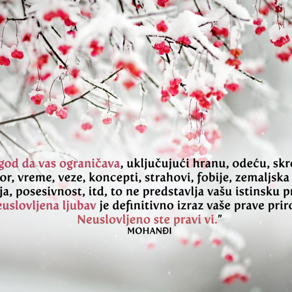 Mohanji Quote In Serbian – Whatever Limits You, Including Food
