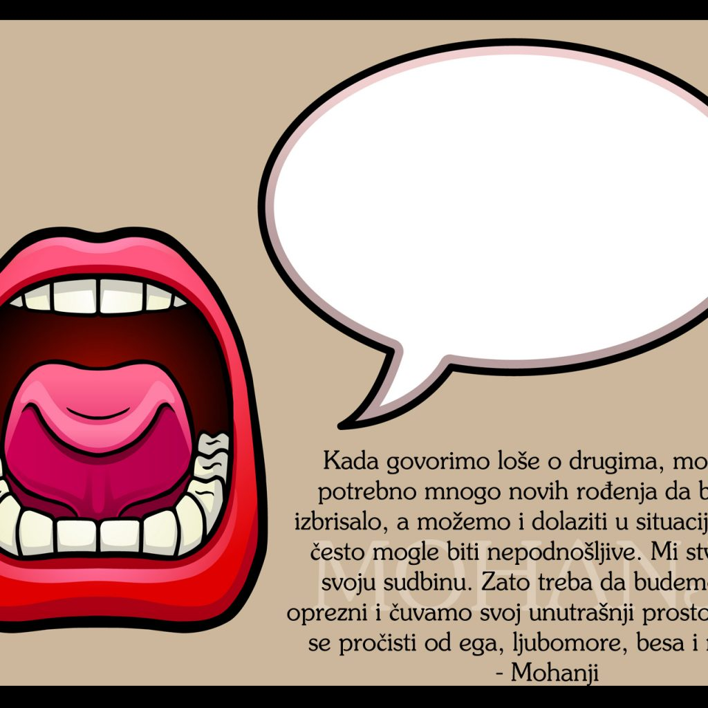 Mohanji Quote In Serbian – When We Talk Bad About Others