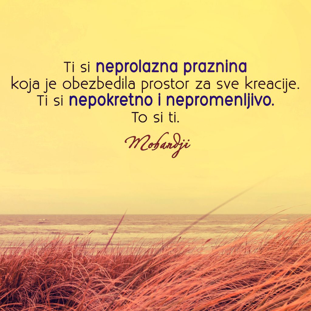 Mohanji Quote In Serbian – You Are The Everlasting Emptiness