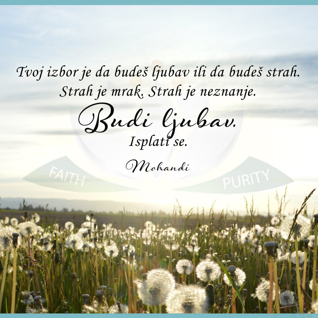 Mohanji Quote In Serbian – Your Choice Is To Be Love Or To Be Fear