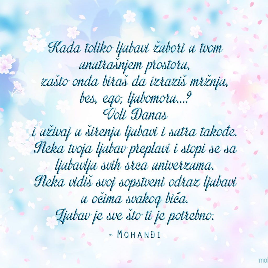 Mohanji Quote In Serbian – Love Is All You Need