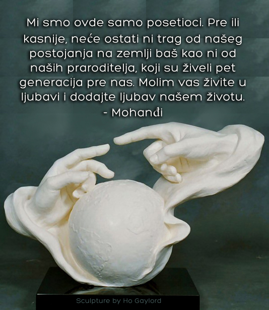 Mohanji Quotes In Serbian – We Are Just Visitors Here